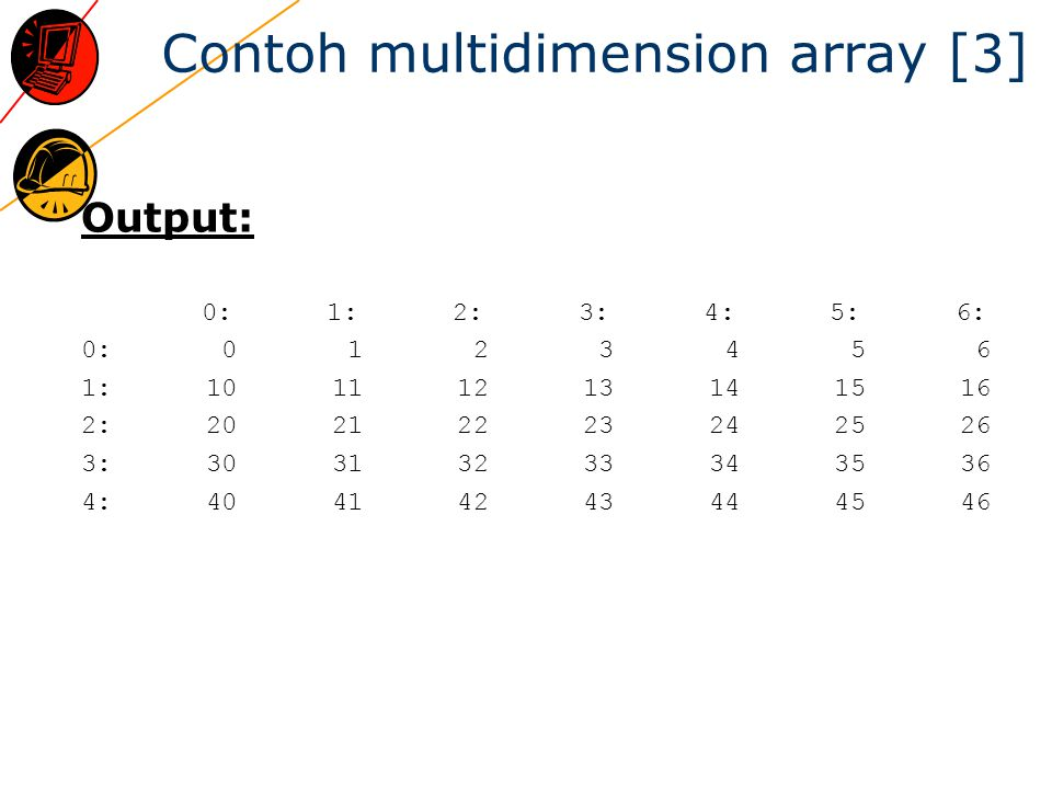 Contoh multidimension array [3]